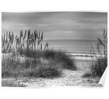 Serenity Beach In Black And White Poster