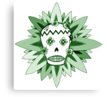 The Day of the Dead Green T Shirt Canvas Print