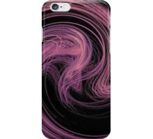Pink and Purple Hairline Swirls on Black iPhone Case/Skin