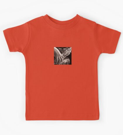 Lonely Sax, Saxophone Player Oil Painting Kids Tee