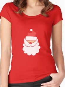 Santa #1 Women's Fitted Scoop T-Shirt
