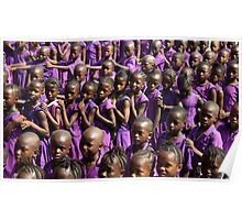 Lining up for school, Sierra Leone  Poster