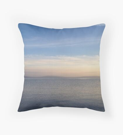 Tranquil Galway Bay Throw Pillow