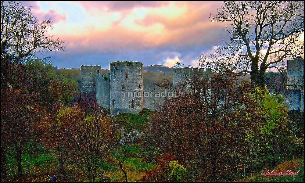 """"""" An Autumn evening  at Chepstow Castle"""" by Malcolm Chant"""