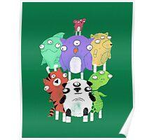 3 eyed animals Poster
