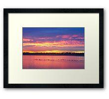 Lagerman Reservoir Sunrise  Framed Print