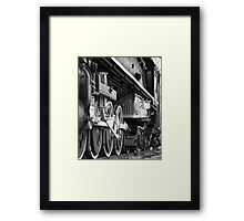 The other side of the train Framed Print