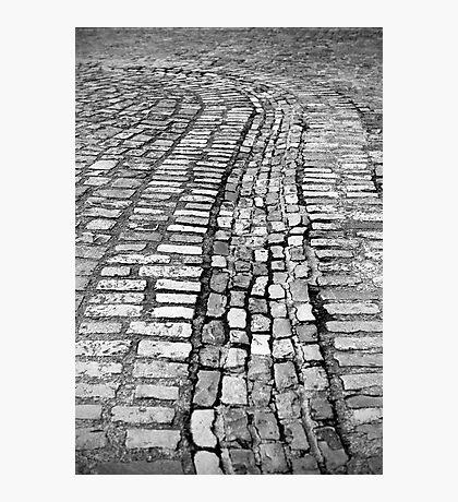 Cobblestone lines Photographic Print