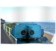 binoculars viewpoint Poster