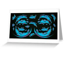 Blue Ghosts (Image and Poem) Greeting Card