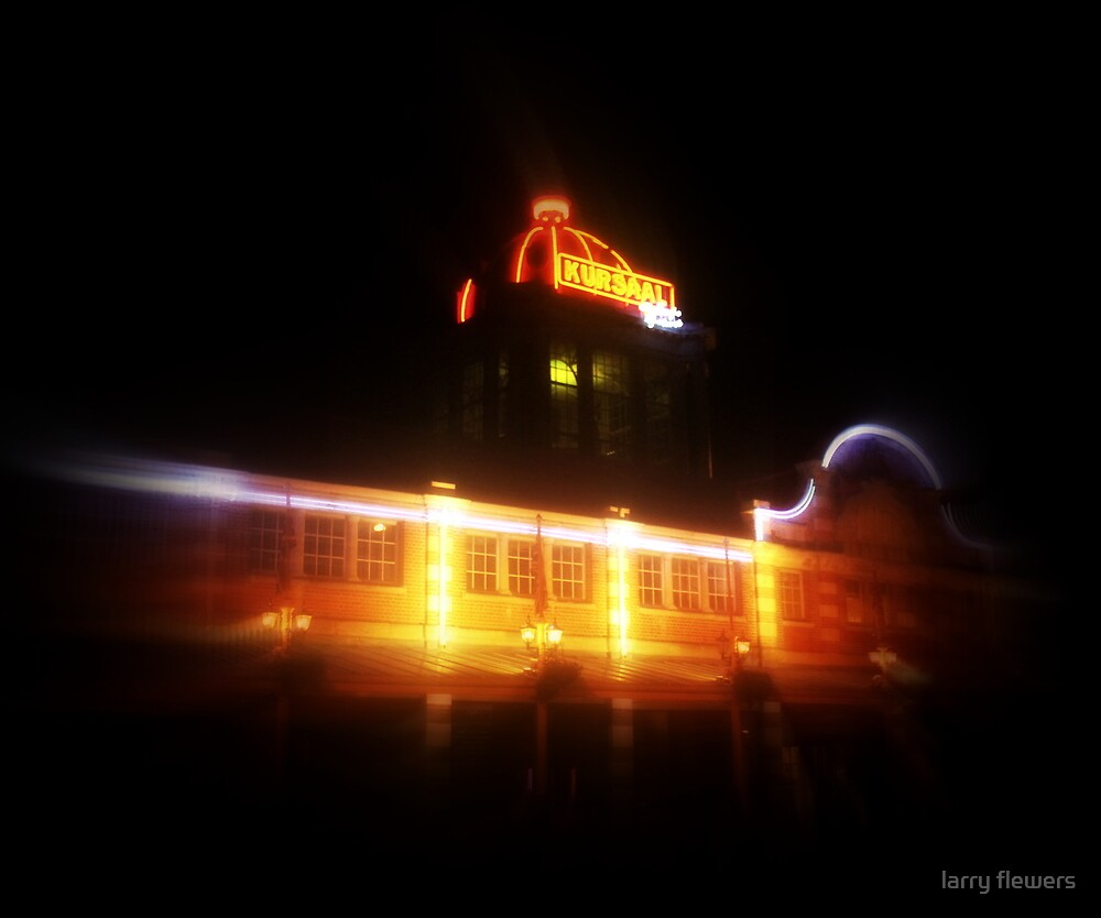 The Kursaal at night by larry flewers
