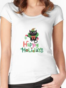 Happy Catiday Holiday   Women's Fitted Scoop T-Shirt