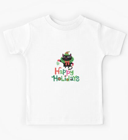 Happy Catiday Holiday   Kids Tee