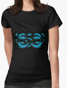 Blue Ghosts (Image and Poem) Womens Fitted T-Shirt
