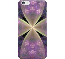 Pastel Floral Cross in Pink iPhone Case/Skin