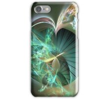 Laser Light Show Over Green Disk iPhone Case/Skin