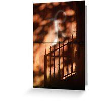 Railings shadows Greeting Card