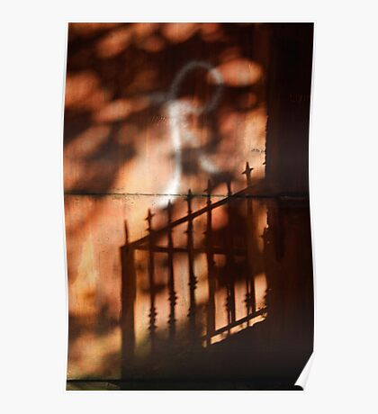 Railings shadows Poster