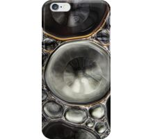 Onyx & Silver Bubble Abstract iPhone Case/Skin