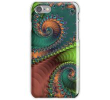 Green and Red Spiral Staircases iPhone Case/Skin