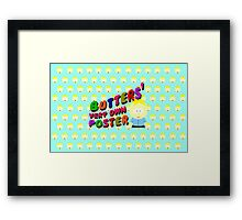 Butters very own poster - South park Framed Print