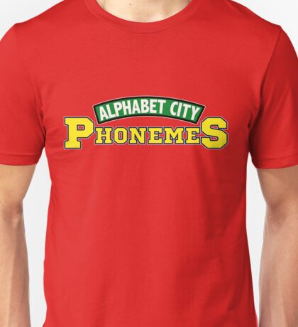 Alphabet City Phonemes Unisex T-Shirt