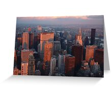 Sub-zero Sunset (NYC) Greeting Card
