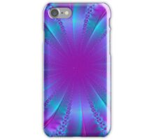 Blue and Purple Ribbon Pit Abstract iPhone Case/Skin
