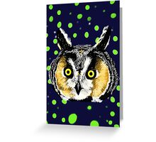 Owl Head Greeting Card