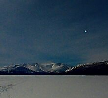 Fish Lake in Winter by Moonlight by Yukondick