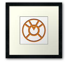 Orange Lantern Insignia Framed Print