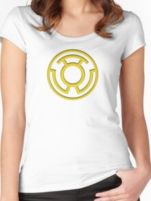 Yellow Lantern Insignia Women's Fitted Scoop T-Shirt