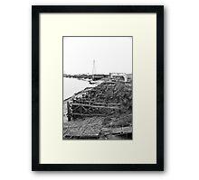 Dockside Decay Framed Print