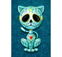 Blue Zombie Sugar Kitten Cat Photographic Print