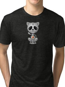 Dark Zombie Sugar Kitten Cat Tri-blend T-Shirt