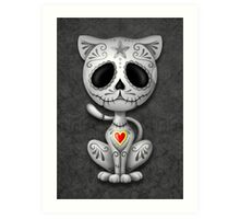 Dark Zombie Sugar Kitten Cat Art Print