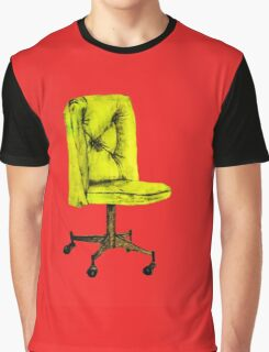 Yellow Chair on Red Graphic T-Shirt