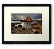 Following Rocks Framed Print