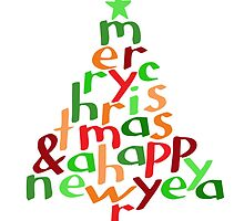 Merry Christmas - tree by Morag Anderson