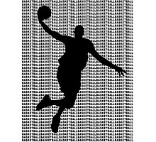 Basketball Jump Shot Photographic Print