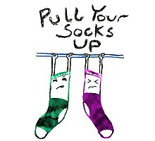 Pull Your Socks Up Photographic Print