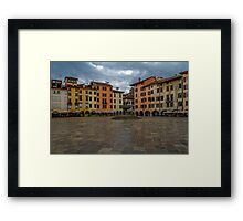Square with fountain Framed Print