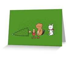 Beavers ruin christmas Greeting Card