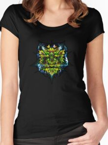 aWEARness clothing - Green Man Women's Fitted Scoop T-Shirt