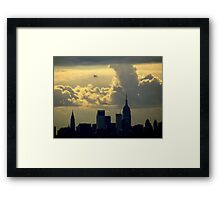 Clouds over New York City Framed Print