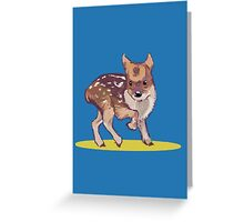 A Little Pudu Greeting Card