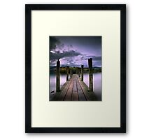 Jetty on Windermere, English Lake District Framed Print