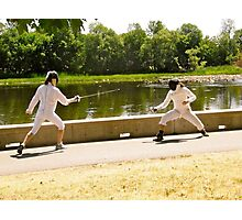 Sword fighters Photographic Print