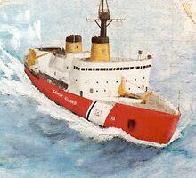 USCG Icebreaker POLAR STAR Nautical Map Cathy Peek by Cathy Peek