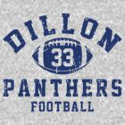 Dillon Panthers Football - 33 Gray by Stucko23